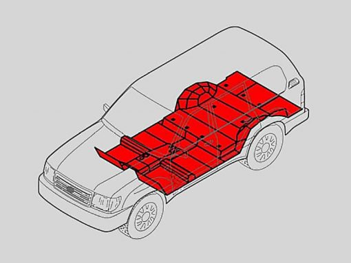 vehicle floor armor for armored vehicle